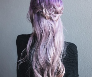 purple hair and ombre balayage image