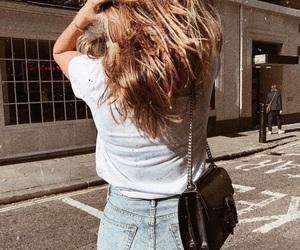denim, fashion, and hair image