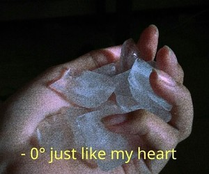 broken, ice, and broken heart image