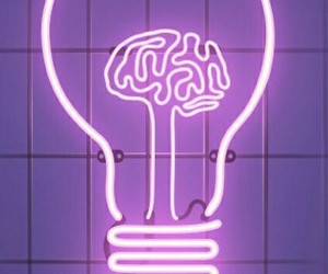 neon, purple, and brain image