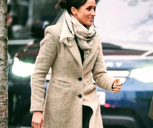 creme, fashion, and coat winter image