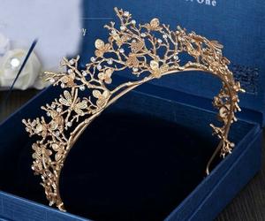 crown, gold, and tiara image