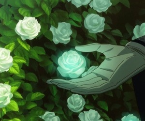 anime, flower, and rose image