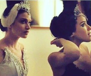 ballerina, ballet, and black swan image