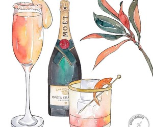 celebration, champagne, and cocktail image