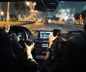 light, car, and city image