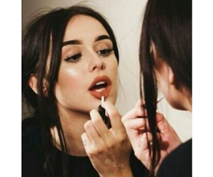 girl, makeup, and lipstick image