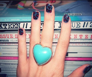 nails, ring, and heart image