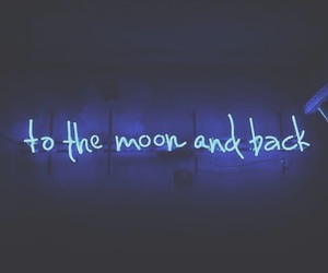 blue, quotes, and neon image
