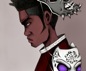 Afro, fantasy, and mask image