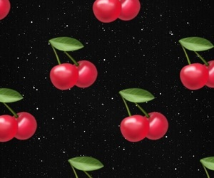 black, cherry, and glitter image