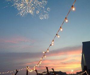 light, sky, and sunset image