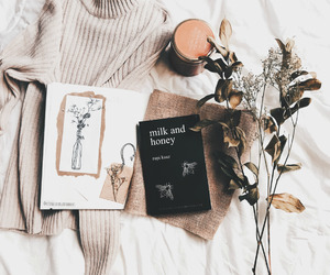 book, reading, and milk and honey image
