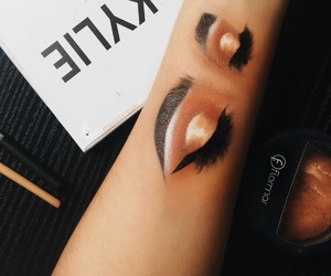 art, eyebrows, and eyeliner image