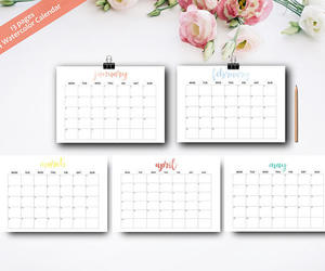 etsy, motivational, and wall calendar image