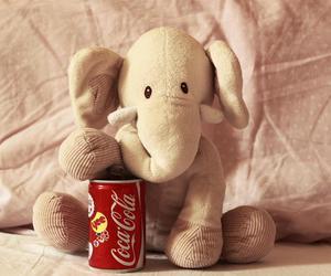 coca cola, cute, and elefante image