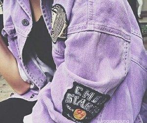 purple, fashion, and jacket image