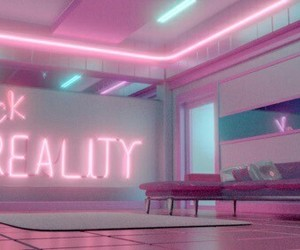 light pink, neon, and reality image