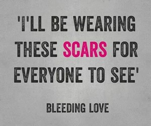confident, mental health, and scars image