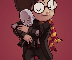 harry potter, wallpaper, and voldemort image