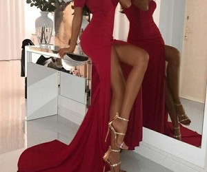 red dress, fashion style, and girly inspo image