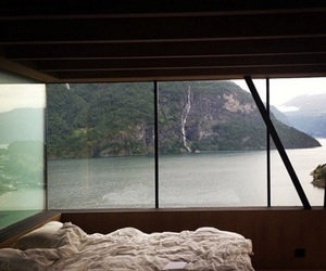 bedroom, view, and nature image