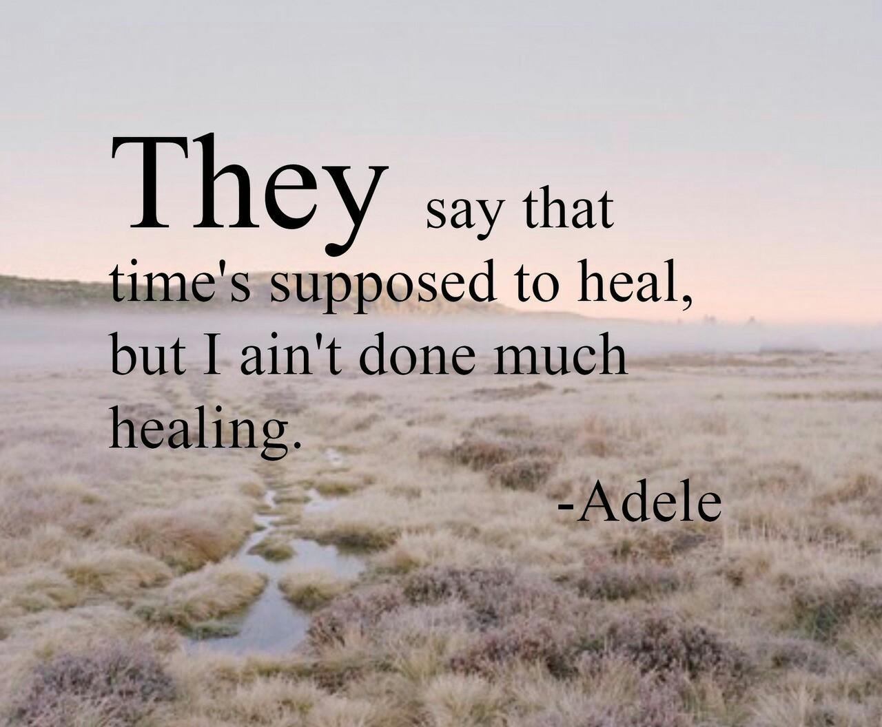 Adele and Lyrics image