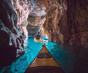 travel, water, and adventure image