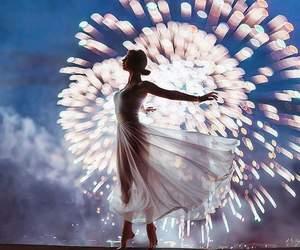 fireworks, dance, and light image
