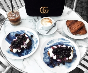 food, gucci, and coffee image