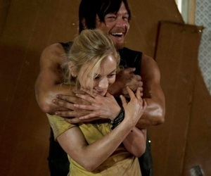 norman reedus, emily kinney, and beth image