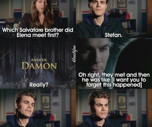 paul wesley, damon salvatore, and tvd image