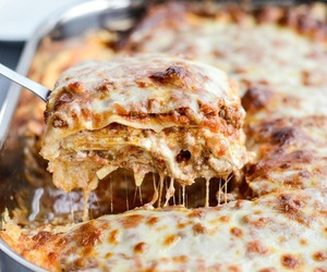 italian, pasta, and lasagne image