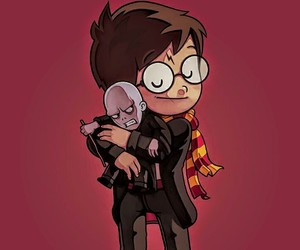 harry potter, voldemort, and book image