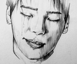 draw, fanart, and Jonghyun image
