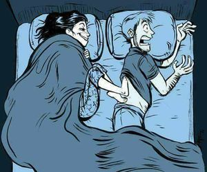 funny, bed, and couple image