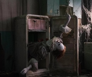 clown, it, and Stephen King image