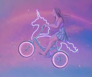 girl, unicorn, and Dream image