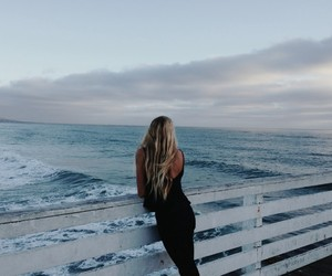 ocean, black, and blue image