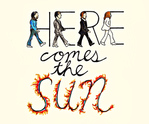 the beatles, beatles, and here comes the sun image