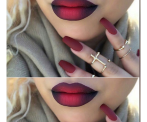 make up, red, and love image