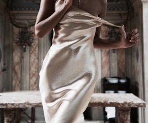 dress, fashion, and silk image