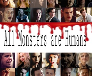 blood, damon, and monsters image