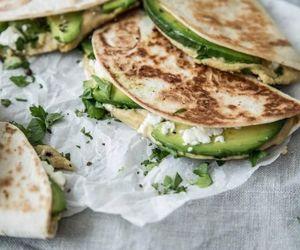 food, avocado, and quesadillas image