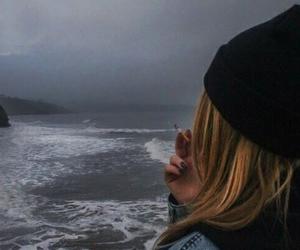 grunge, sea, and smoke image