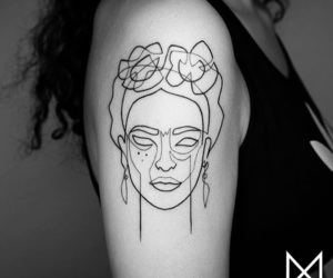 tattoo, art, and frida kahlo image