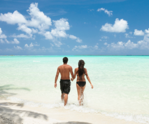 beaches, couples, and paradise image