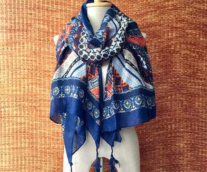 bohemian, boho, and winter scarf image