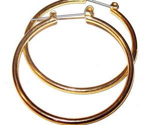 etsy, gold hoop earrings, and hippie earrings image