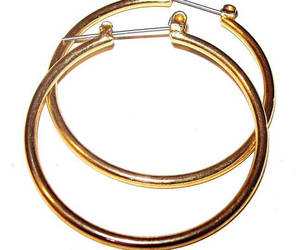 etsy, gold hoop earrings, and classic earrings image